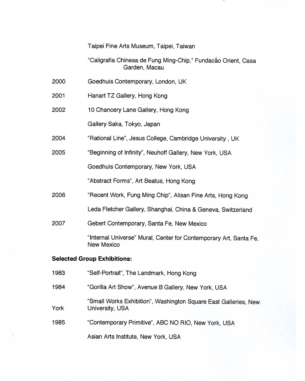 Ming Chip Fung's Resume, pg 2